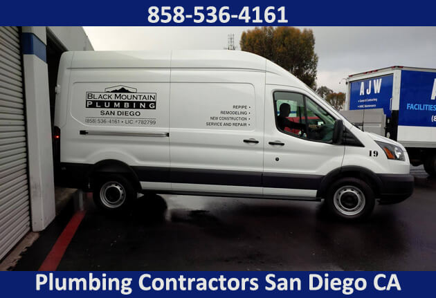 plumbing contractors San Diego CA